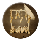Hanging Pointe Shoes Pocket Mirror