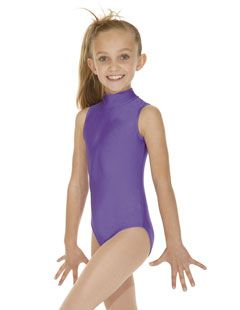3f8dbbe626e8 High Neck Keyhole Back No Sleeve Leotard all colours