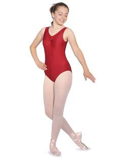 No Sleeve Leotard with Ruche Front in Nylon Lycra All Colours