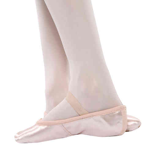 Pink Satin Full Sole Ballet Shoe - Narrow/Medium Fitting