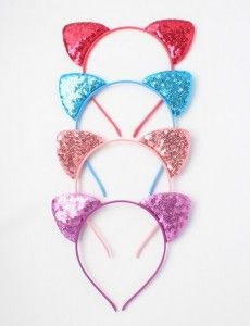 Sequin Cat Ears All Colours