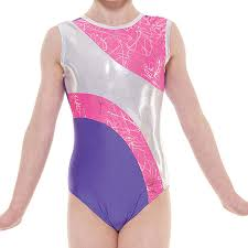 Tappers & Pointers Gym 37 No Sleeve Leotard in Purple and Lipstick Pink