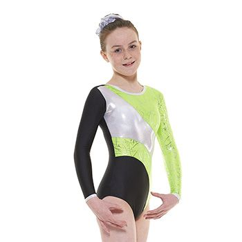 Tappers & Pointers Gym 38 Leotard in Black/Green