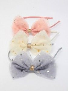 Tulle Bow Aliceband All Colours