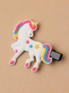 Unicorn Beak Clip with Stars