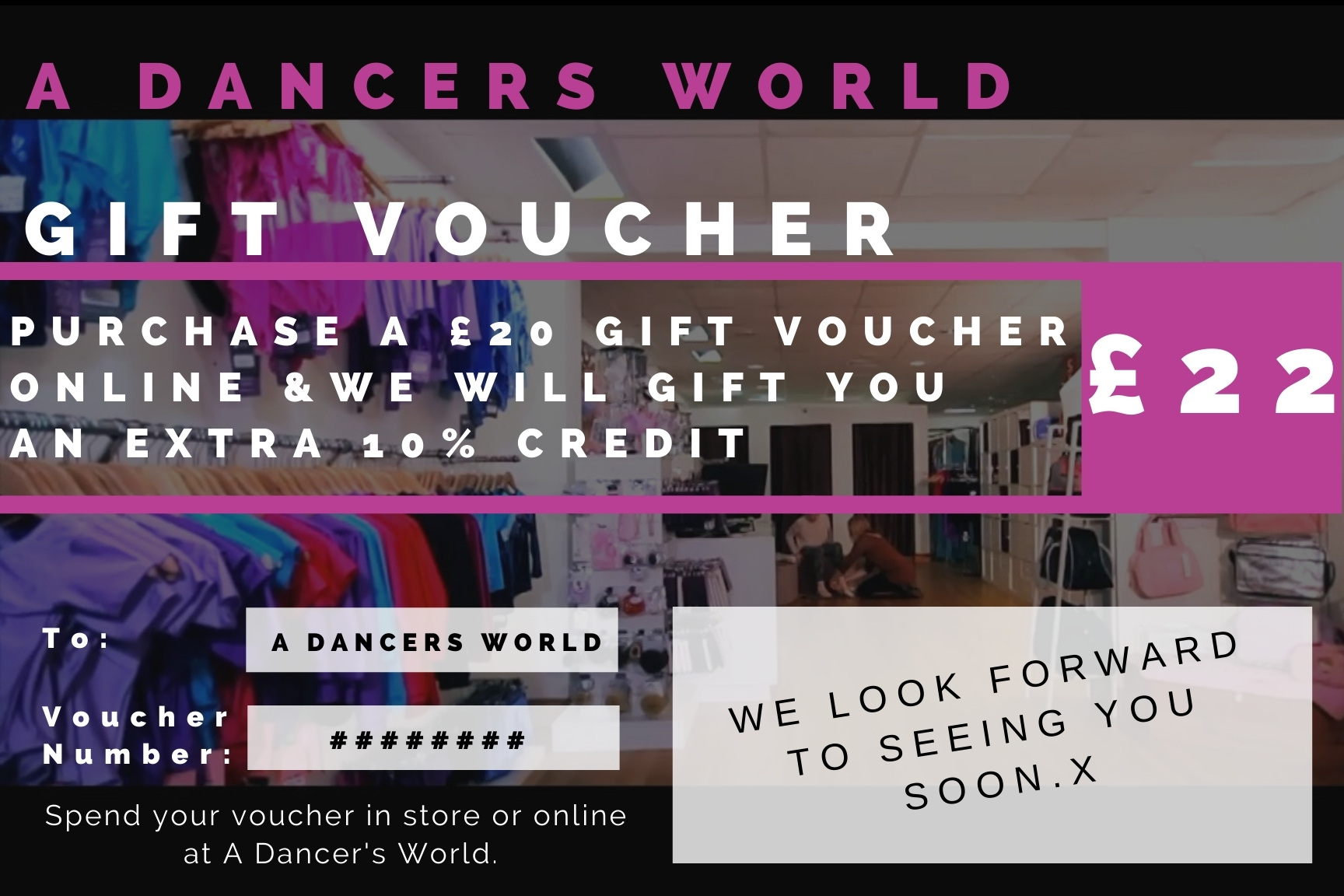 Gifted £2 on purchases of £20 voucher